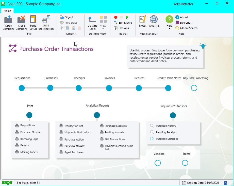 Visual Process User Interface